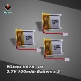 Original WLtoys V646 RC Part 3.7V 100mAh Lipo Battery V646-05(VA18) for WLtoys V646 V676 Hubsan H111 Cheerson CX-10 CX-10A JJRC H1 H7 RC Quadcopter