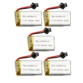 5pcs 7.4V 500mAh Li-po Battery for JJRC H8C H8D DFD F183 F182 RC Quadcopter