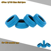 4Pcs/Set 1/10 Grain Run-flat Car Rubber Tyre for Traxxas HSP Tamiya HPI Kyosho On-Road Run-flating Car