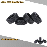 4Pcs/Set 1/10 Grain Run Flat Car Rubber Tyre for Traxxas HSP Tamiya HPI Kyosho On-Road Run-flating Car