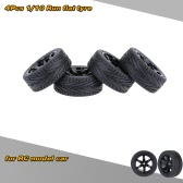 4Pcs/Set 1/10 Run Flat Car Tires Hard Tyre for Traxxas HSP Tamiya HPI Kyosho On-Road RC Car