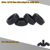 4Pcs/Set 1/10 Grain Run Flat Rally Car Tyre for Traxxas HSP Tamiya HPI Kyosho RC Rally Model Car