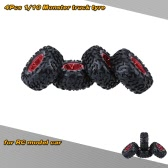 4Pcs/Set 1/10 Monster Truck Tire Tyres for Traxxas HSP Tamiya HPI Kyosho RC Model Car