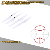 2Pairs 9443 CW/CCW Self-locking Propellers & Propeller Guard Protector for  DJI Phantom 3 Version Quadcopter