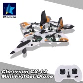 Cheerson CX-12 Mini Fighter Drone 2.4G 4CH 6-Axis Gyro LED RC Quadcopter