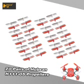 20 Pairs Original Hubsan Part H111-05 Propellers for Hubsan H111 RC mini Quadcopter