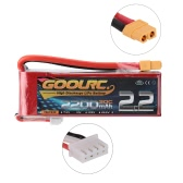 GoolRC 3S 11.1V 2200mAh 30C Li-Po Battery with XT60 Plug for RC 450 Helicopter H250 280 300 Quadcopter