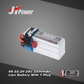 JHpower 22.2V 2200mAh 25C 6S LiPo Battery With T Plug for RC Car Airplane Helicopter