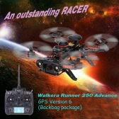 Walkera Runner 250 Advance Backpack Version RTF Drone with DEVO 7 and 800TVL Camera/OSD/GPS RC Quadcopter