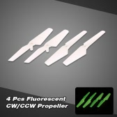 2 Pair of RC Part X5SC-01 Fluorescent CW/CCW Propeller Set for X5/X5C/X5SC/X5SW/H5C RC Quadcopter