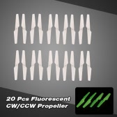 10 Pair of RC Part X5SC-01 Fluorescent CW/CCW Propeller Set for X5/X5C/X5SC/X5SW/H5C RC Quadcopter