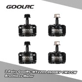 2 Pairs Original GoolRC MT2205 2600KV CW/CCW Brushless Motor for GoolRC 210 QAV250 Racer 250 FPV Racing Quadcopter