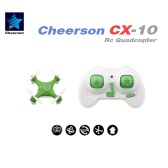 Fishingking  CX-10 mini Quadcopter 2.4G 4 canales 6 Eje LED RC Quadcopter juguete Helicóptero w / luz LED (CX-10 Quadcopter; Mini 2.4G Quadcopter; RC Toy)