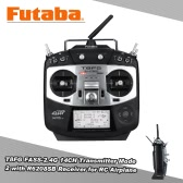 Original Futaba T8FG FASS-2.4G 14CH Transmitter Mode 2 with R6208SB 8CH Receiver for RC Airplane Glider Helicopter