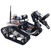 THRobotEx Wifi Smart DIY Crawler RC Robot Tank with Manipulator 1.3MP HD Camera Support PC Mobile Phone Control Monitoring