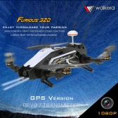 Original Walkera Furious 320 GPS Version FPV Racing Drone RTF RC Quadcopter with OSD 1080P HD Camera DEVO 7 Transmitter