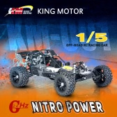 KM-T002 1/5 Baja 26CC RC Nitro Powered Off-road Racing Car with MT-3D 3-Channel 2.4G Transmitter