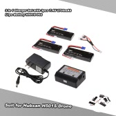 3pcs 7.4V 2700mAh 10C Li-po Battery  with 3 in 1 Charger Set H501S-002 for Hubsan H501S FPV RC Quadcopter