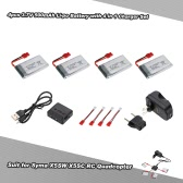4pcs 3.7V 500mAh Li-po Battery with 4 in 1 Charger Set for Syma X5SW X5SC X5HW X5HC RC Drone Quadcopter