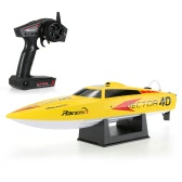 Racent V797-12.4G RTR 35km/h RC Racing Boat - Yellow - US Plug