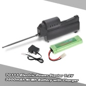 70111 Electric Power Starter 7.2V 3800mAh Ni-Mh Battery with Charger Combo for 1/10 1/8 HSP REDCAT Nitro RC Car