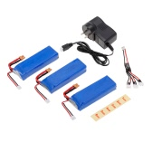 3pcs 7.4V 2300mAh 35C Li-po Battery XT30 Plug with Charger for MJX Bugs 6 B6 RC Drone Quadcopter