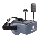 Makerfire VR008 Pro 5.8G 40CH Dual Receiver Double Antenna FPV Goggles with Speaker DVR for QAV 250 220 210 Racing Quadcopter