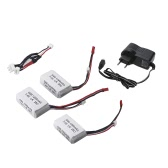 Supper Battery Charger Sets for Wltoys 1/18 Rc Car A949 A959 A969 A979 K929 LiPo Battery 3Pcs / US Plug Charger  (Wltoys A949 A959 A969 A979 K929 LiPo Battery,LiPo Battery 7.4V 1200mah JST Plug)