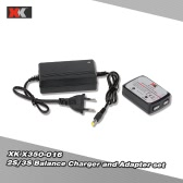 Original XK X380-016 2S/3S Balance Charger and AC 100-240V 0.8A to DC 12V 2.0A Adapter for XK X380 XK350 RC Quadcopter