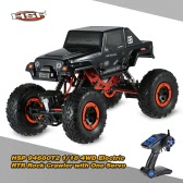 Original HSP 94680T2 1/18 2.4Ghz 2CH 4WD Electric Powered Brushed Motor RTR Rock Crawler RC Car with One Servo