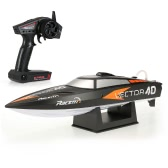 Racent V797-12.4G RTR 35km/h RC Racing Boat - Black - EU Plug