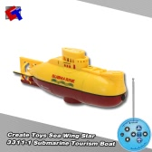 Create Toys Sea Wing Star 3311-1 27MHz Radio Control Submarine Tourism Boat
