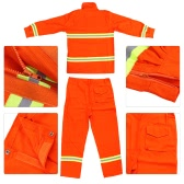 Fire Fighting Clothing Fire Suit Protective Clothes Fireproof Waterproof Heatproof Flame Retardant Clothing