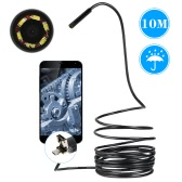 6 LED Waterproof 2 in 1 Android and PC USB Endoscope Borescope CCTV Inspection Wire Camera 10 M