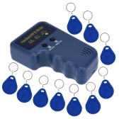 Handheld 125KHz RFID ID Card Writer/Copier Duplicator + 10pcs Writable EM4305 Key Cards