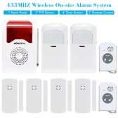 433MHZ Wireless On-site Home Security Burglar House Alarm System