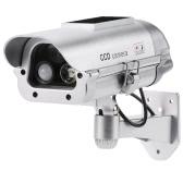 Simulación PIR Sensor Detector CCTV Cámara Solar Powered Fake Dummy Cámara de seguridad de la bala impermeable para uso interior al aire libre