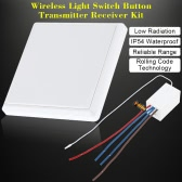 Wireless Light Switch Button Transmitter Receiver Kit