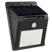 8 LED Solar Wall Light PIR Motion Sensor Outdoor Waterproof  Energy-Saving Garden Street Lamp