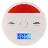 LCD CO Carbon Monoxide Alarm Sensor Poisoning Smoke Gas Tester Sound & Flash Warning Detector