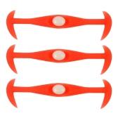 12Pcs Funny Convenient Lock Elastic No Tie Silicone Shoelaces Lazy Horn Shape Shoe Laces for Sneaker