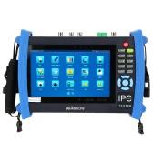 KKmoon 7inch CCTV Onvif IP Camera Tester Touch Screen Monitor SDI/AHD/TVI/CVI HD 1080P/PTZ/POE/WIFI/FTP Server/IP Scan/Port Flashing/DHCP IPC-8600ADHS
