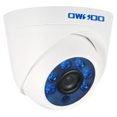 OWSOO  1500TVL 720P AHD Dome Surveillance Camera 1.0MP 3.6mm 1/4'' CMOS 6 Array IR LEDS Night Vision IR-CUT Indoor CCTV Security NTSC System