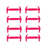 12Pcs Elastic Silicone Shoelaces No Tie Hammer Shape Shoe Sneaker Laces for Sports Outdoors Trainer