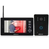 KKmoon  2.4GHz 7'' Wireless LCD Color Video Door Phone Intercom Doorbell Support Unlock Snapshot Record Night Vision Rainproof For Home Surveillence