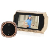 "4.3""  LCD Digital Peephole Viewer 160° PIR Door Eye Doorbell Camera  IR Night Vision Photo Taking/Video Recording for Home Security"