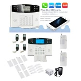 Wireless GSM SMS Intelligent Home Alarm System Kit LCD Display Remote Control Security Household Warning 99+8 Zones