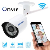 "Waterproof Wireless P2P Wifi IP Camera 1/4"" CMOS 1.0 Megapixel 720P Plug&Play ONVIF H.264 36 LED IR-Cut Night Vision Motion Detection Email Alarm 802.11 b/g/n"