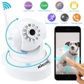 KKmoon® HD 720P Megapixels Wireless WiFi Pan Tilt Network IP Cloud Indoor Camera Baby Monitor support PTZ TF Card Record 2-way Talk P2P Android/iOS APP IR-CUT Filter Infrared Night View Motion Detection Email Alarm Browser View for CCTV Surveillance Security System