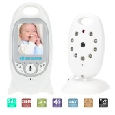 VB601 Baby Monitor 2.0in LCD 2.4GHz Wireless with 8IR LED Two-way Talk 8 Lullabies Temperature Monitor VOX Mode